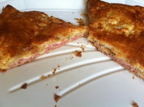 Ham and Gruyere in Puff Pastry