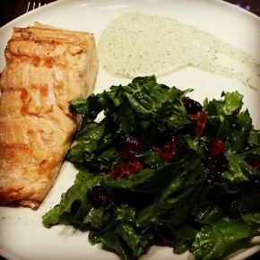 Grilled Salmon with Dill Sauce