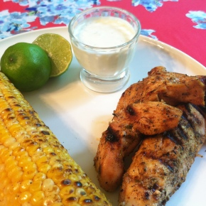 Jerk Chicken with Honey-Lime Dipping Sauce