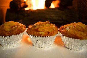 """Surprise Muffins"" (Pumpkin Chocolate Chip Muffins)"
